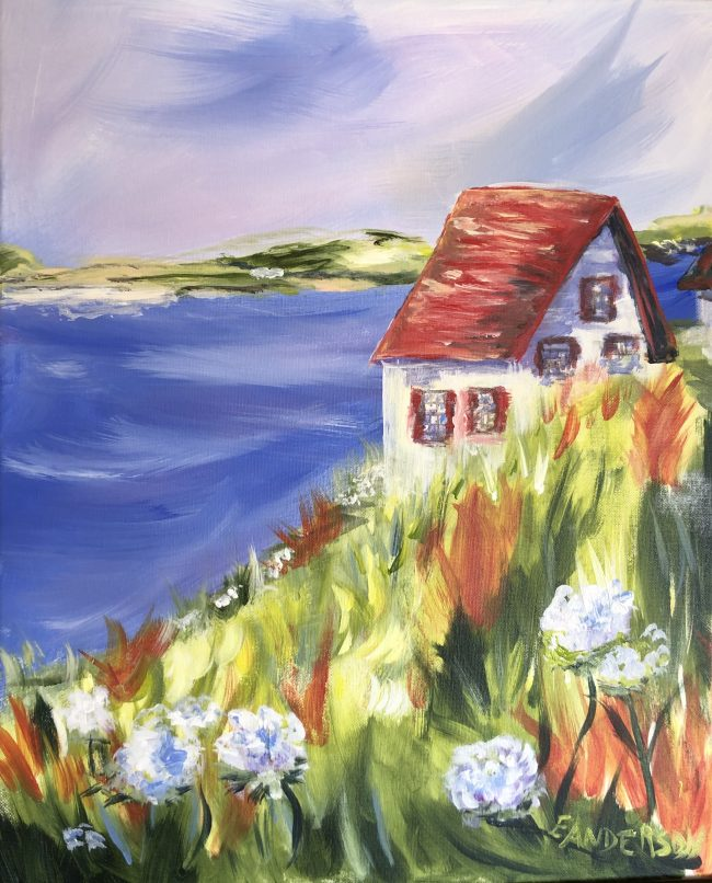 Red Cottage by the Sea